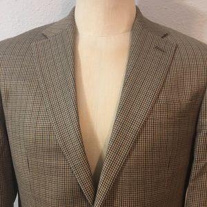 Lauren Ralph Lauren Houndstooth Sport Coat Silk